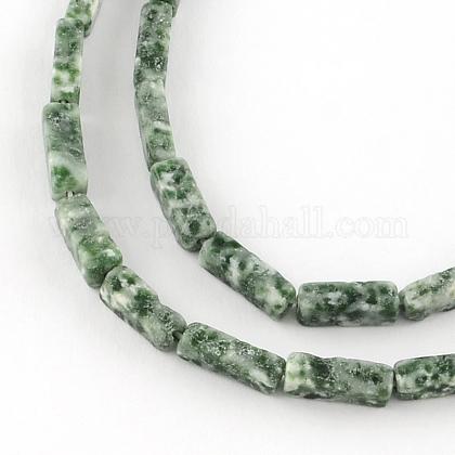 Cuboid природные зеленые нити шарик пятна драгоценный каменьG-R299-08-1