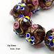 Handmade Gold Sand Lampwork Beads StrandsLAMP-G046-18x16mm-6-1