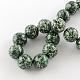 Perles rondes en jaspe tache verte naturelleG-R333-20mm-01-2