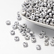 Silver Color Plated Acrylic Beads PB43C9070-1