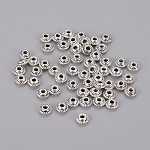 Tibetan Style Spacer Beads, Rondelle, Antique Silver, Lead Free & Cadmium Free, 5x3mm, Hole:1.5mm