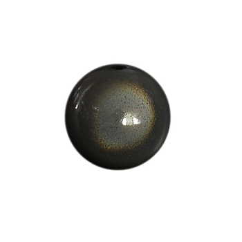 Black Spray Painted Acrylic Beads, Miracle Beads, Bead in Bead, Round, Black, 10mm, Hole: 2mm; about 950pcs/500g