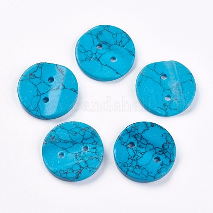 Synthetic Turquoise ButtonsG-K275-04A-1