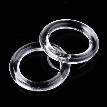 透明アクリルリンクリング  リング  透明  21x3mm  内径:14ミリ。約880個/ 500グラムTACR-N009-26-1