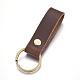 Cowhide Leather KeychainKEYC-WH0014-A02-2