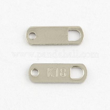 Lengüetas de cadena 304 en forma de rectángulo de acero inoxidableSTAS-Q178-02A-1