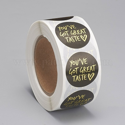 Etiquetas autoadhesivas de etiquetas de regalo de papel kraftDIY-G013-A16-1