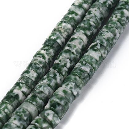 Натуральные зеленые пятна яшмовых нитейG-Z006-C03-1