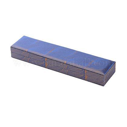 Cajas de collar de seda bordada chinescasOBOX-P001-06-1