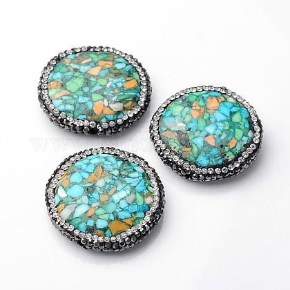 Piedras preciosas sintéticas redondas planasG-F226-11-1