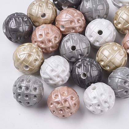 Supports de strass perle acrylique opaque peint par pulvérisationMACR-T035-010-1