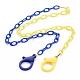 Collares de cadena de cable de plástico abs de dos tonos personalizadosNJEW-JN02825-05-1