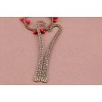 Bookmark Findings, Tibetan Style Alloy, Antique Bronze, 122x10mm