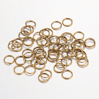 10 g 6 mm open Jump Rings Antique Bronze Close but unsoldered