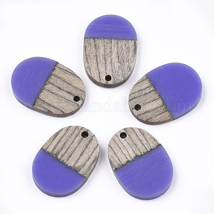 Colgantes de resina & maderaRESI-T023-01G-1-1