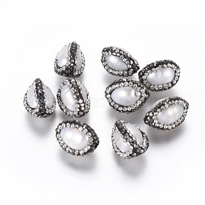 Perlas naturales abalorios de agua dulce cultivadasRB-K057-L01-1