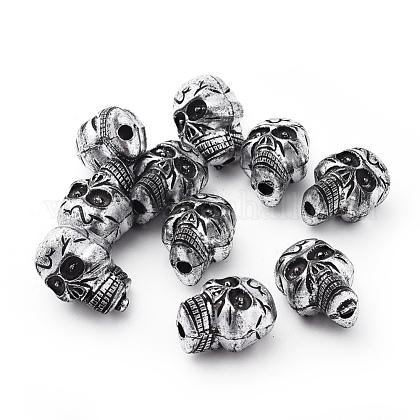 Antique Silver Acrylic BeadsX-PLS111Y-1