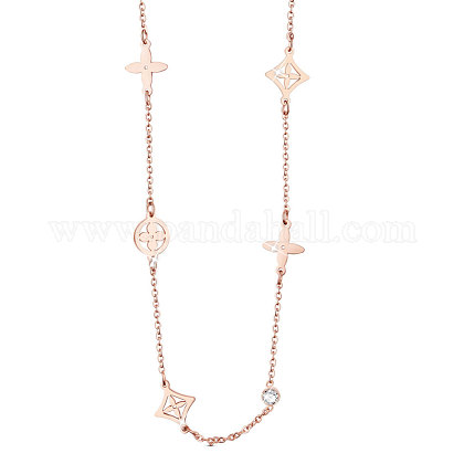 SHEGRACE® Titanium Steel NecklacesJN797A-1