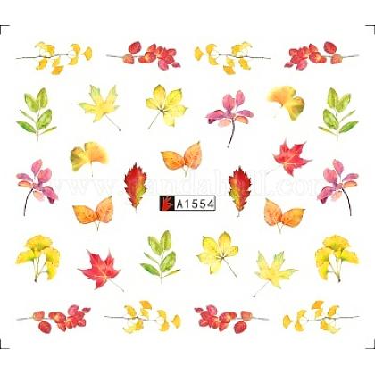 Stickers autocollants de transfert d'eau pour nail art thème d'automneMRMJ-Q080-A1554-1