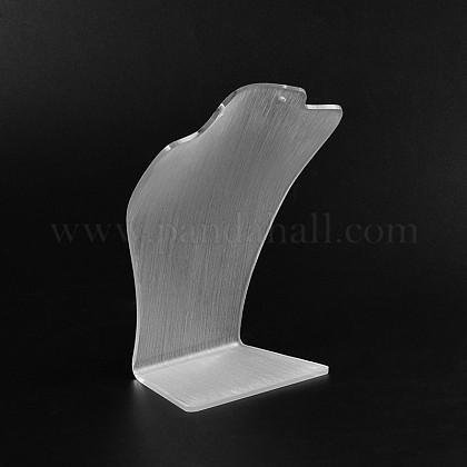 有機ガラスのネックレスディスプレイ胸像NDIS-N018-02A-1