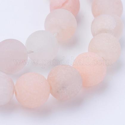 Natural Pink Aventurine Beads StrandsG-Q462-8mm-13-1