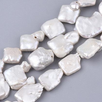 Hebras de perlas keshi de perlas barrocas naturalesPEAR-Q015-011-1