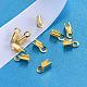 Extremos de cable de plata de ley chapados en oro de 18k realH160B-G-3