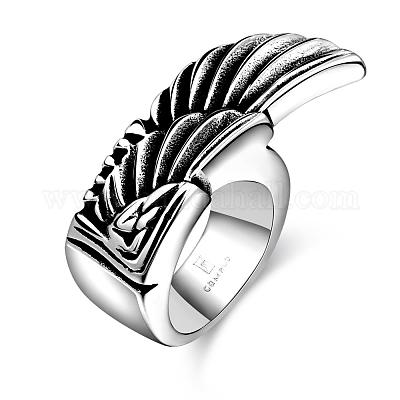 Stainless Steel Wide Punk Style Statement Ring