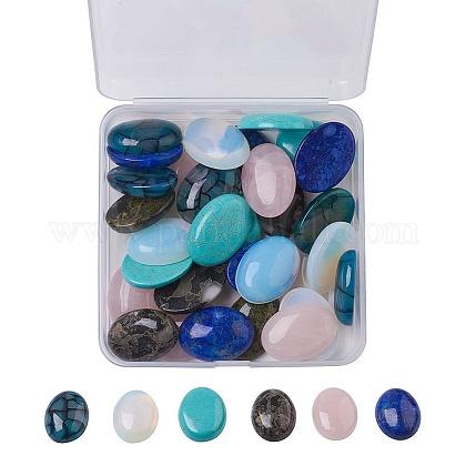 Кабошоны из натурального и синтетического смешанного драгоценного камняG-JP0001-11-1