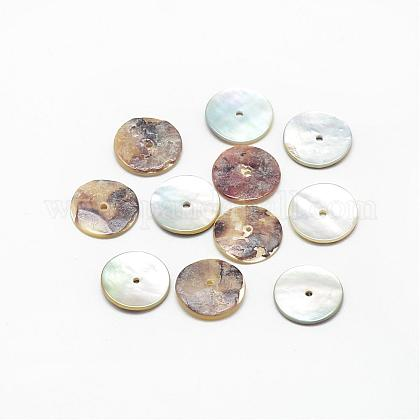 Natural Akoya Shell Bead Spacers SSHEL-R041-89-1