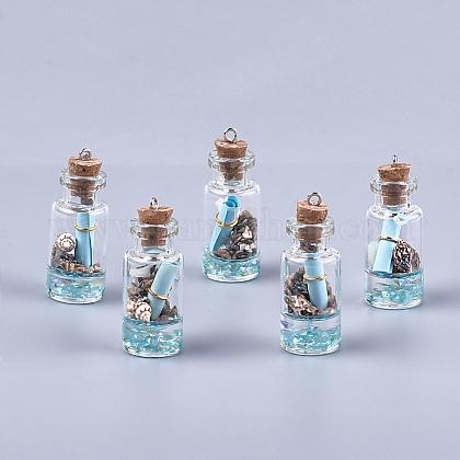 Decoraciones pendientes de cristal de la botella que deseaGLAA-S181-02B-1