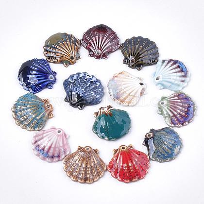 Handmade Porcelain PendantsPORC-S498-53-1