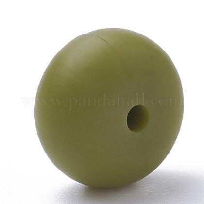 Abalorios de silicona ambiental de grado alimenticioSIL-Q001B-49-1