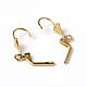 Golden Color Brass Leverback Earring FindingsX-EC561-G-2