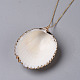 Pendentifs coquille colliersNJEW-JN02388-02-3