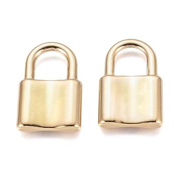 304 Stainless Steel Pendants, Padlock, Golden, 31x20x4mm, Hole: 10x11mm