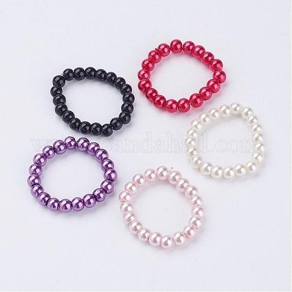 Cuentas de perlas de vidrioRJEW-JR00194-1