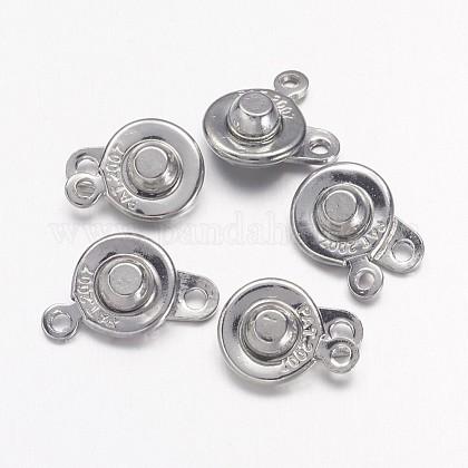 Platinum Plated Brass Snap ClaspsX-KK298-1