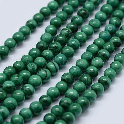 Abalorios de malaquita naturales hebrasG-F571-27AB1-3mm-1