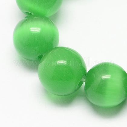 Chapelets de perles d'œil de chatCE-R002-6mm-20-1