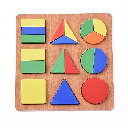 Bloques de construcción diy de madera de forma geométrica para niñosX-DIY-L018-16-1