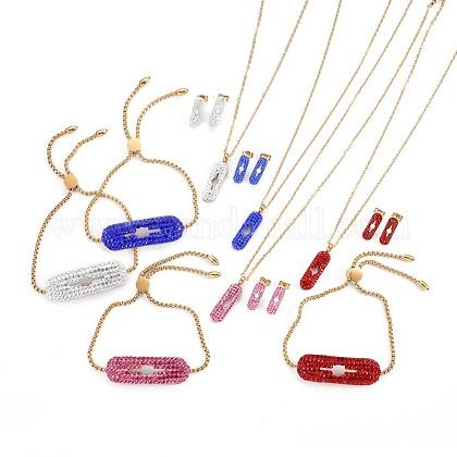 304 Stainless Steel Jewelry SetsSJEW-F183-07G-1