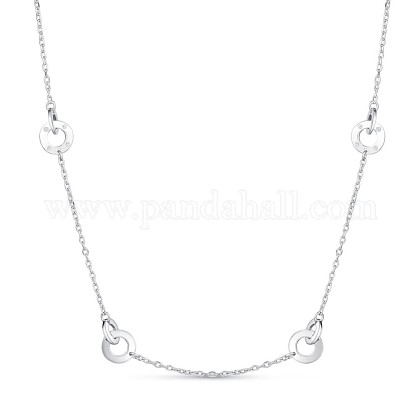 TINYSAND® Sterling Silver Interlocking Chain Necklaces TS-N320-S-1