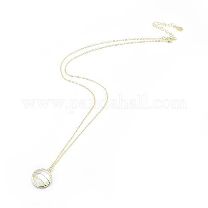 Collares pendientes de plata de ley 925NJEW-F246-16LG-1