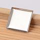 Square 304 Stainless Steel Plain Edge Bezel CupsX-STAS-E104-21B-1