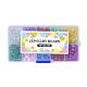 Spray Painted Transparent Crackle Glass Beads StrandsCCG-X0005-B-3