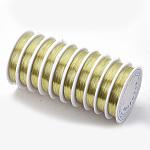 Copper Jewelry Wire, Gold, 20 Gauge, 0.8mm; 3m/roll, 10rolls/group