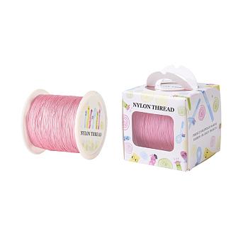 Hilo de nylon, rosa, 0.5mm, aproximamente 147.64yards / rodillo (135 m / rollo)
