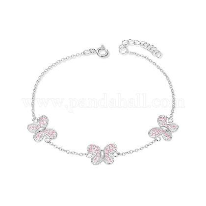 SHEGRACE® Cute Design Sterling Silver Link BraceletJB69A-1