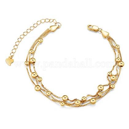 SHEGRACE® 925 Sterling Silver Multi-strand BraceletsJB495C-1